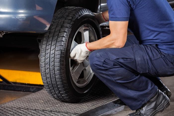 A flat tire change